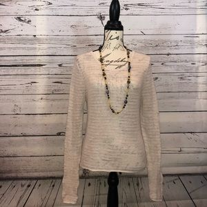 GAP | Ladies ivory colored knit sweater size L.